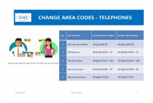 CHANGE AREA CODES TELEPHONES.